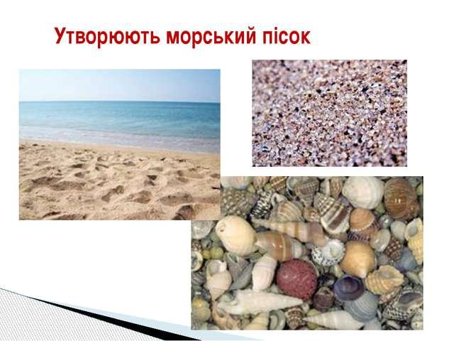 Утворюють морський пісок