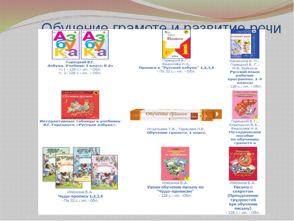 Обучение грамоте и развитие речи