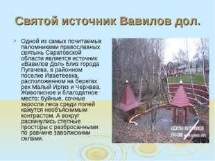 Святой источник Вавилов дол. Одной из самых почитаемых паломниками православн