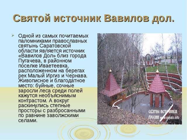 Святой источник Вавилов дол. Одной из самых почитаемых паломниками православн...