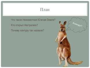 План Что такое Неизвестная Южная Земля? Кто открыл Австралию? Почему кенгуру