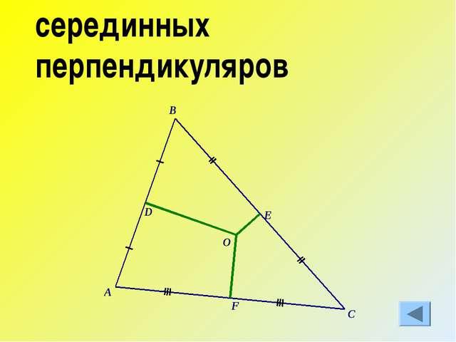серединных перпендикуляров
