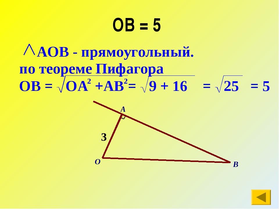 ОВ = 5