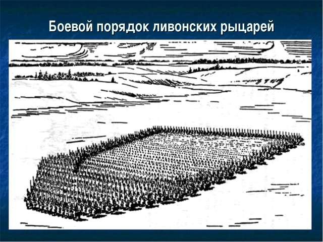 Боевой порядок ливонских рыцарей