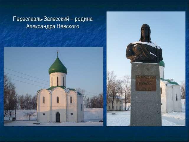 Переславль-Залесский – родина Александра Невского