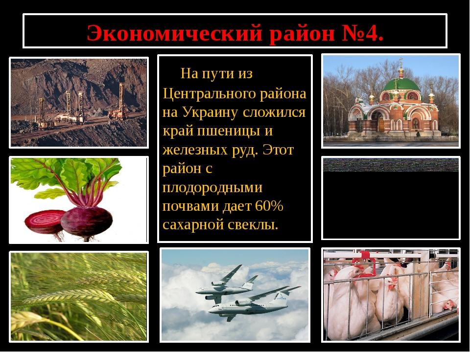 Экономический район №4. На пути из Центрального района на Украину сложился кр...