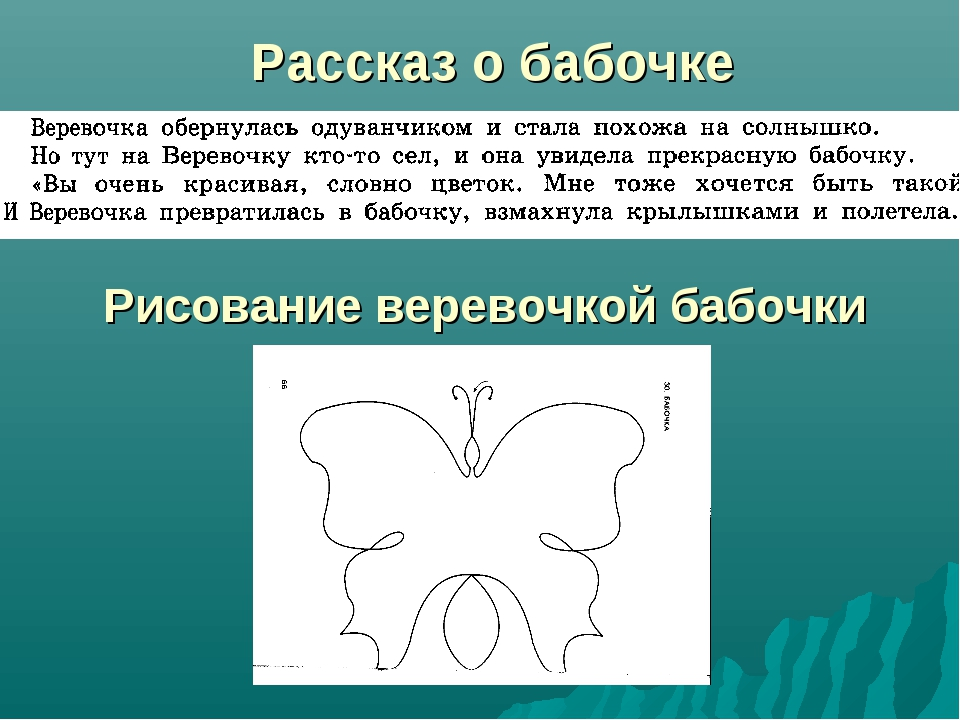 Рассказ о бабочке Рисование веревочкой бабочки
