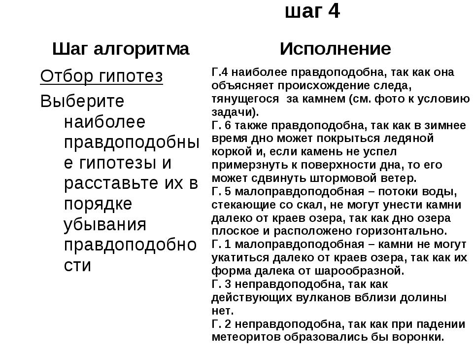 * Работа по ПРИЗ, шаг 4