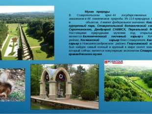 Музеи природы В Ставропольском крае44 государственных природных заказников