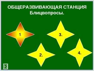 ОБЩЕРАЗВИВАЮЩАЯ СТАНЦИЯ Блицвопросы. 2. 3. 4.