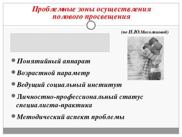 Понятийный аппарат Возрастной параметр Ведущий социальный институт Личностно-...