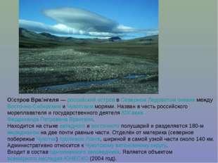 О́стров Вра́нгеля— российский остров в Северном Ледовитом океане между Восто
