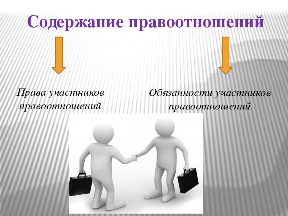 Совокупность субъективных прав и обязанностей участников семейного