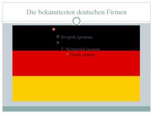 Die bekanntesten deutschen Firmen