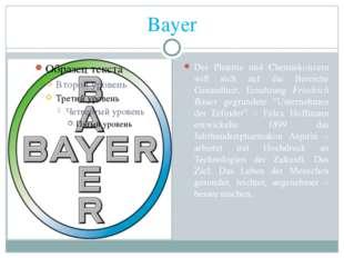 Bayer Der Pharma und Chemiekonzern will sich auf die Bereiche Gesundheit, Ern