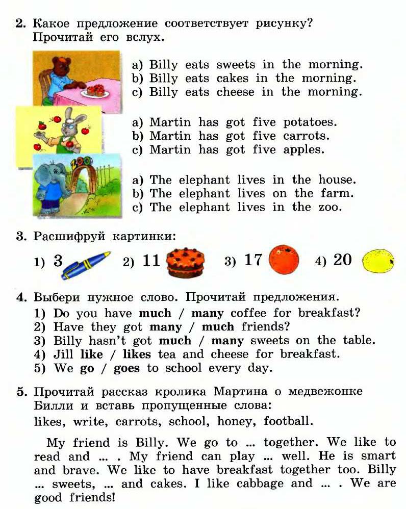 тематический план-схема по английскому языку