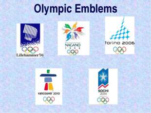 Olympic Emblems