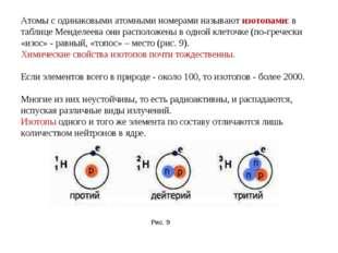 Атомы с одинаковыми атомными номерами называют изотопами: в таблице Менделеев