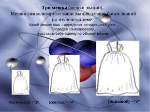 Три мешка (мешки знаний). Мешки символизируют ваши знания, точнее багаж знани