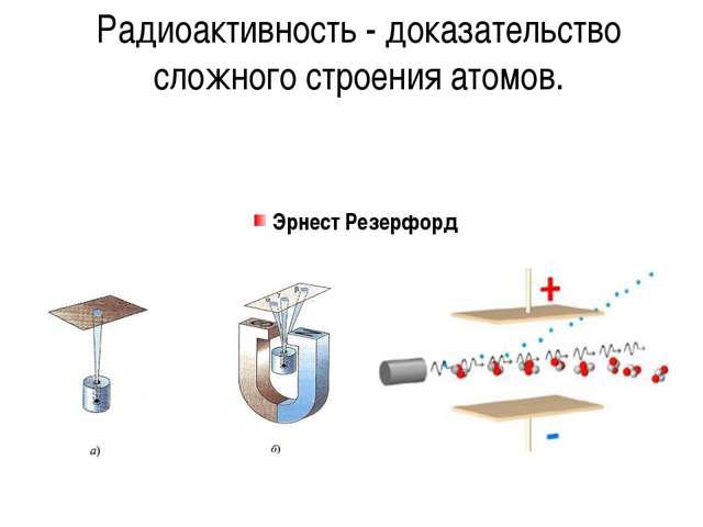 Радиоактивность - доказательство сложного строения атомов. Эрнест Резерфорд