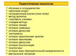 обучение в сотрудничестве «мозговая атака» ситуационнный анализ (case-study)