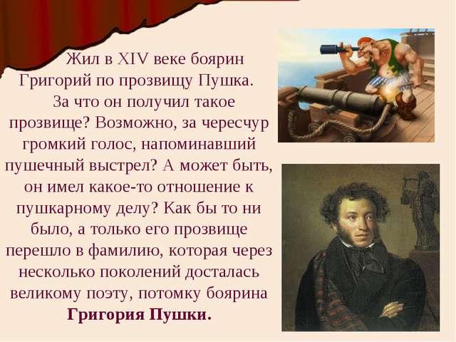 Жил в XIV веке боярин Григорий по прозвищу Пушка. За что он получил такое пр...