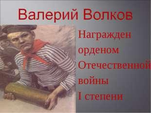 Награжден орденом Отечественной войны I степени