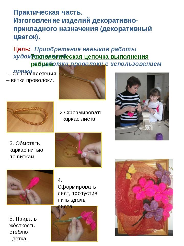 Практическая часть. Изготовление изделий декоративно-прикладного назначения (...