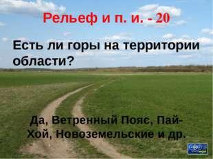 Рельеф и п. и. - 10 Самая большая равнина Архангельской области. Онего-Двинск