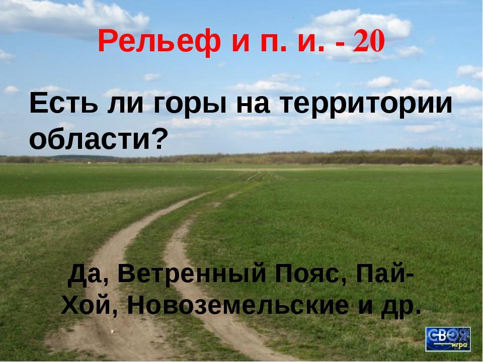 Рельеф и п. и. - 10 Самая большая равнина Архангельской области. Онего-Двинск...
