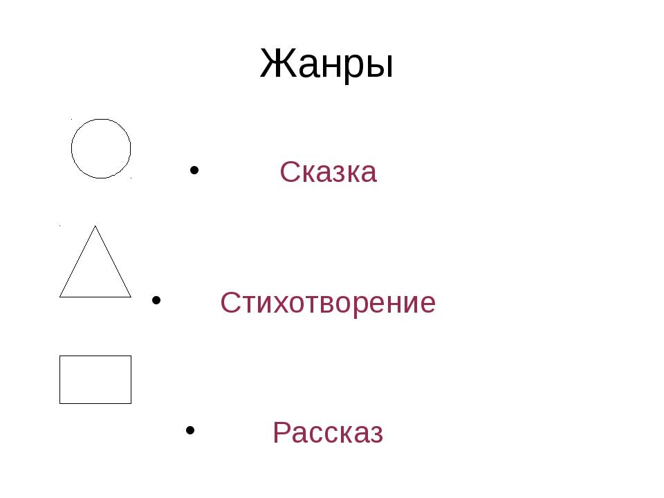 Жанры Сказка Стихотворение Рассказ