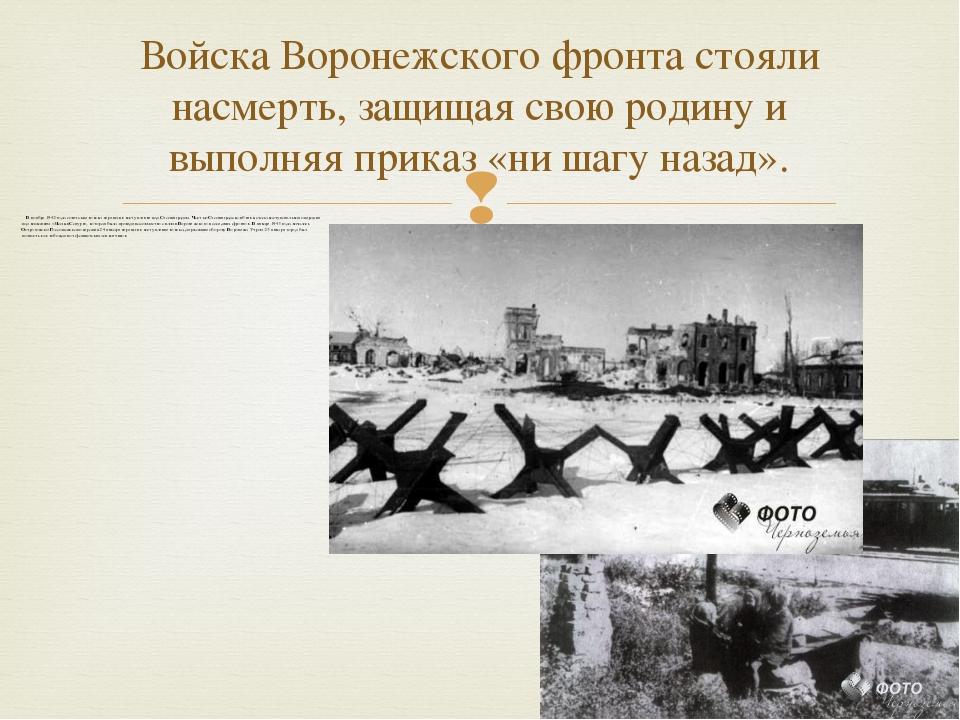 В ноябре 1942 года советские войска перешли в наступление под Стал...