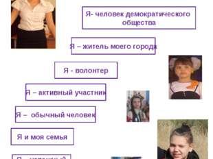 Я – гражданин КАЗАХСТАНА Я- человек демократического общества Я – житель моег
