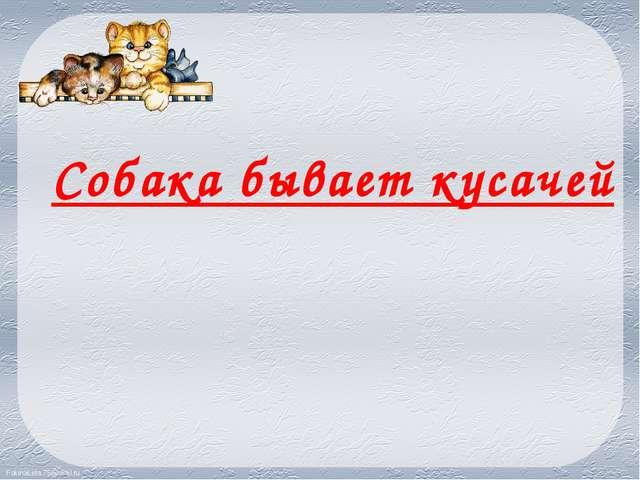 Собака бывает кусачей FokinaLida.75@mail.ru