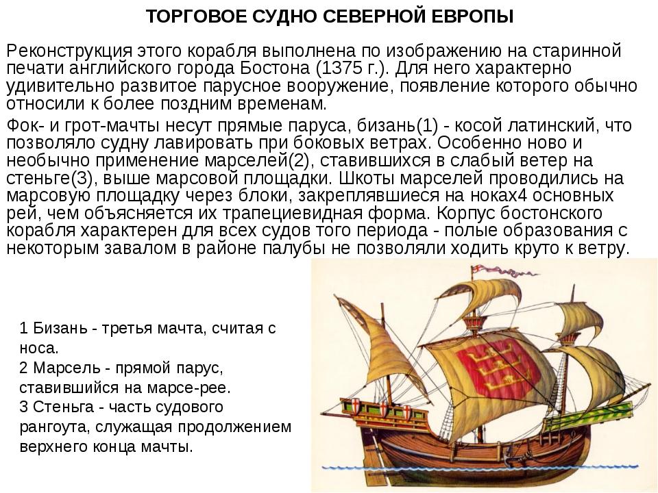 ТОРГОВОЕ СУДНО СЕВЕРНОЙ ЕВРОПЫ Реконструкция этого корабля выполнена по изобр...