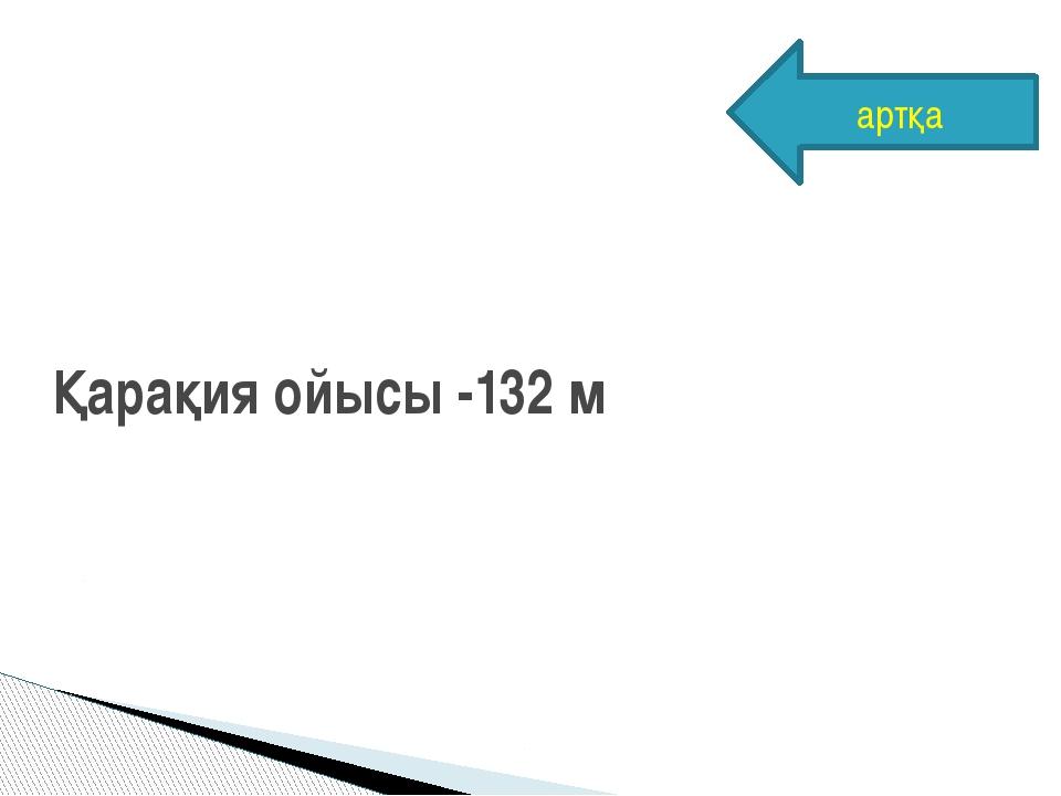 Қарақия ойысы -132 м артқа
