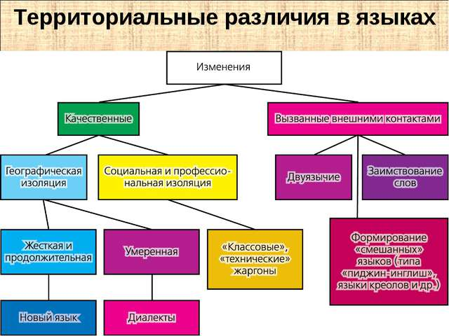 Территориальные различия в языках