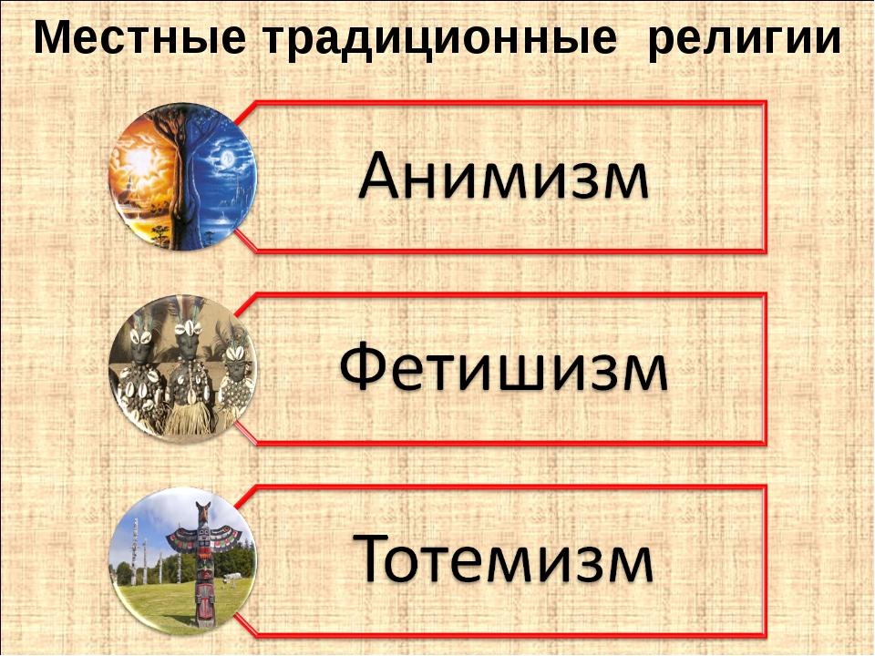 Местные традиционные религии