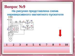 На рисунке представлена схема нереверсивного магнитного пускателя Вопрос №9 1