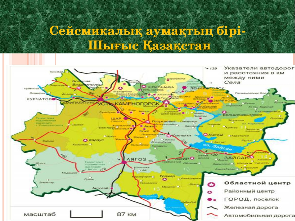 Сейсмикалық аумақтың бірі- Шығыс Қазақстан