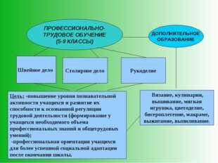 ПРОФЕССИОНАЛЬНО-ТРУДОВОЕ ОБУЧЕНИЕ (5-9 КЛАССЫ) ДОПОЛНИТЕЛЬНОЕ ОБРАЗОВАНИЕ Шве