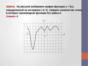 Задача. На рисунке изображен график функции y = f(x), определенной на интерва