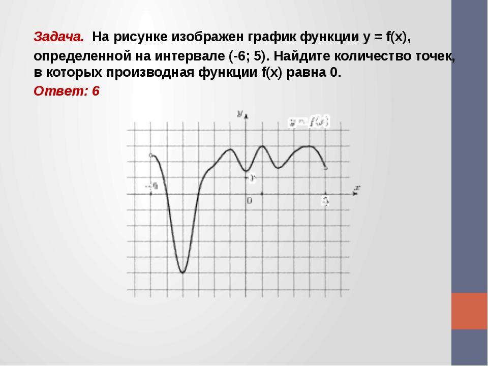 Задача. На рисунке изображен график функции y = f(x), определенной на интерва...