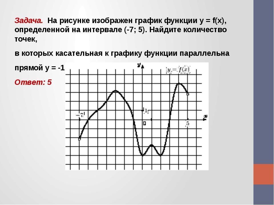 Задача. На рисунке изображен график функции у = f(x), определенной на интерва...
