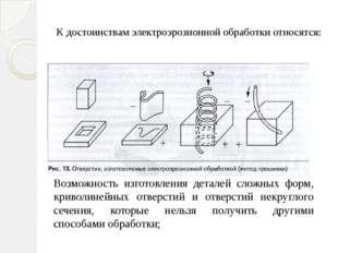 Возможность изготовления деталей сложных форм, криволинейных отверстий и отве