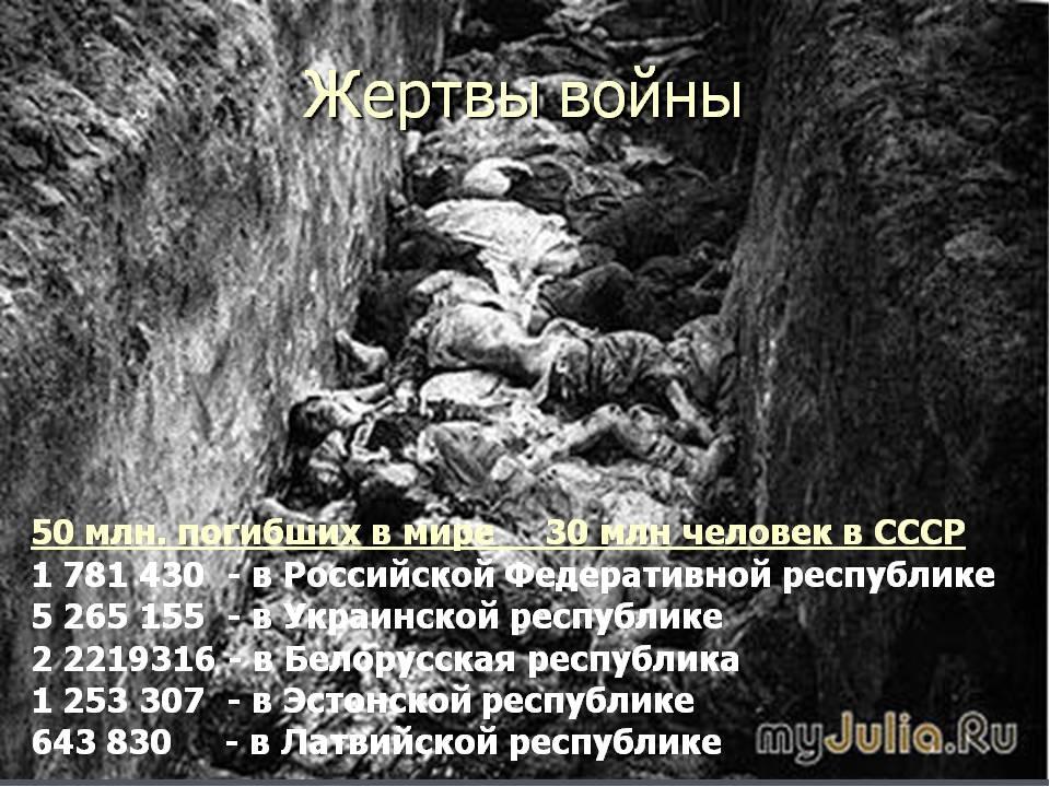 вид сколко селовек погибли в 1 мировой войне для