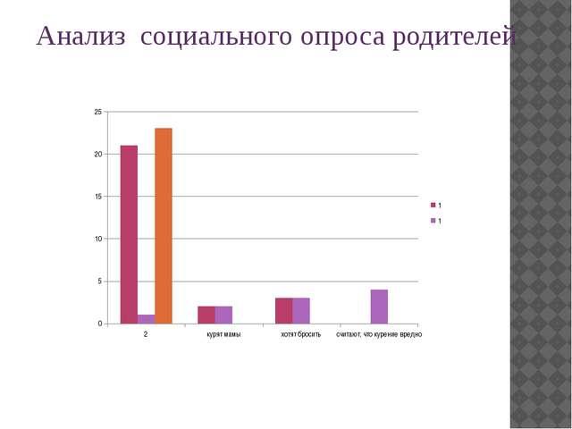 Анализ социального опроса родителей