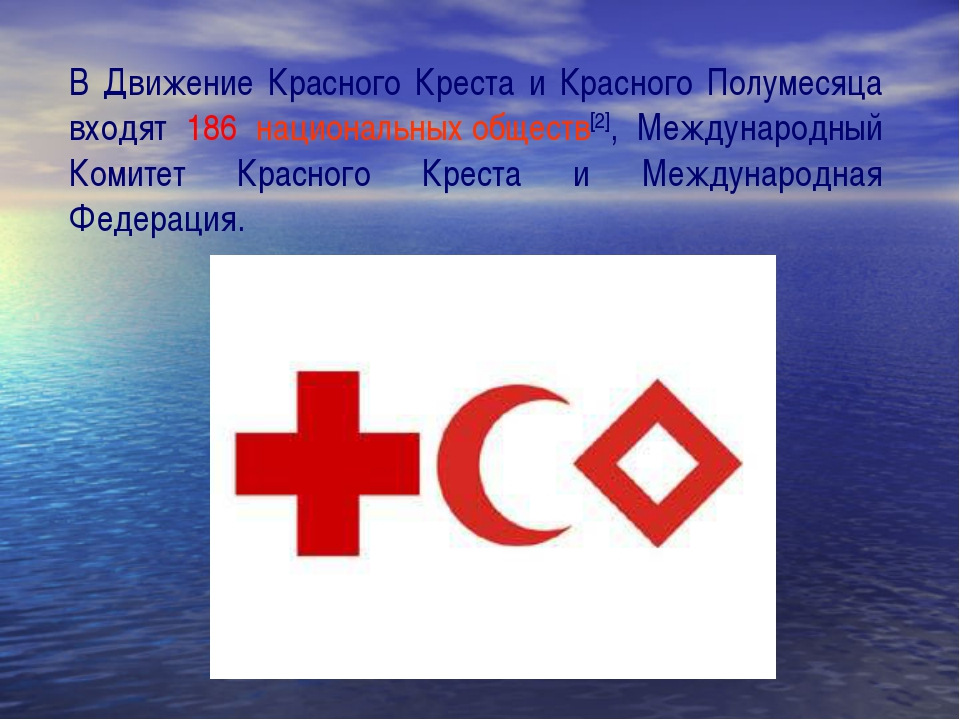 В Движение Красного Креста и Красного Полумесяца входят 186 национальных обще...