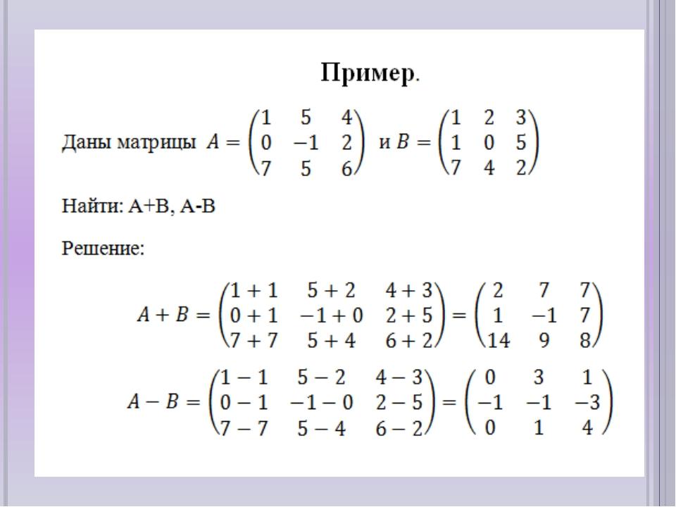 Матрицы в математике