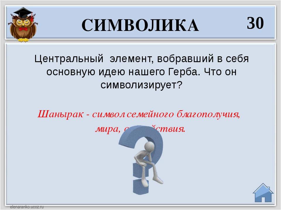 Шанырак - символ семейного благополучия, мира, спокойствия. Центральный элеме...